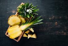 Pineapple. Sliced Pineapple On...