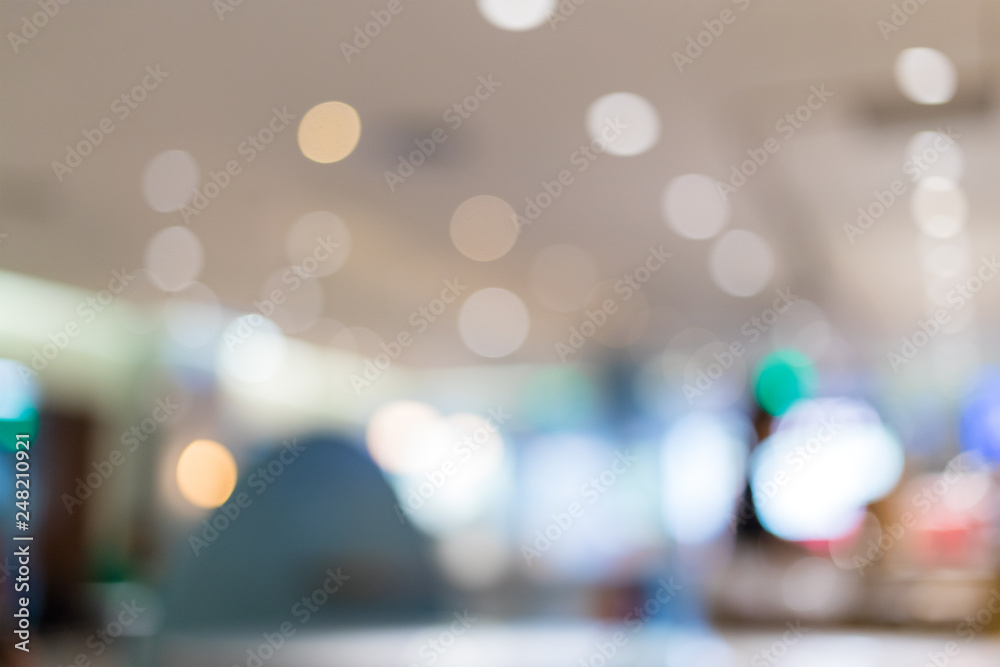 Fototapety, obrazy: Blur of shopping mall center