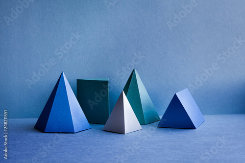 Fotografie, Obraz  Geometrical figures still life composition