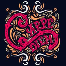 Carpe Diem. Vector Typographic...