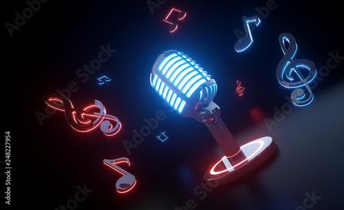 Futuristic Music Concept - 3D Illustration - 248227954