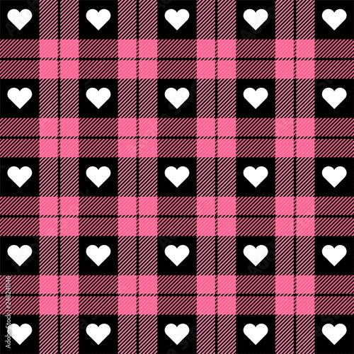 Türaufkleber Künstlich Valentine day Tartan plaid. Pattern Scottish cage