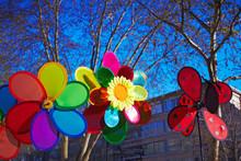 Pinwheel Decoration On Street