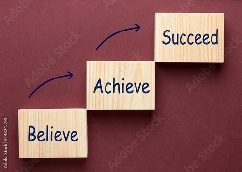 Photo  Believe Achieve Succeed