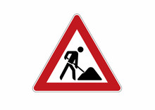 Construction Site Sign - Traff...