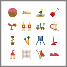 16 Ground Icon. Vector Illustr...
