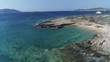 Aerial, shore in Koufonisi Island