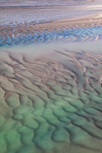 Aerial View Of Ocean At Low Ti...