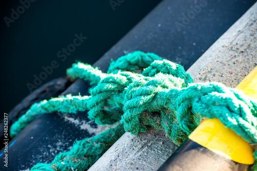 Fotografia knot of a mooring line