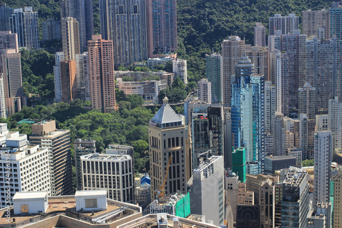 Foto  aerial view of the city at IFC