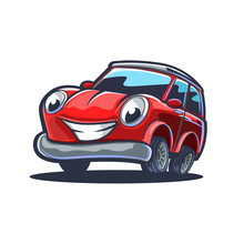 Red Sport Car Cartoon