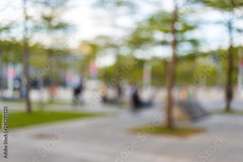 Foto  Blur of park in the city