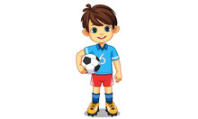 Cute Little Soccer Player 2