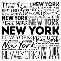 FototapetaNew York wallpaper word cloud, travel concept background