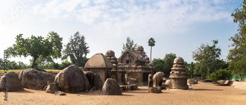 Obraz na plátně  Temple des Pancha Ratha, Mahabalipuram, Inde