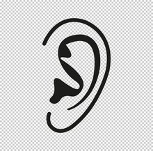 Ear  - Black Vector Icon