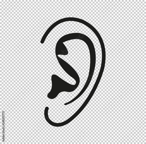 Ear  - black vector icon Fototapeta