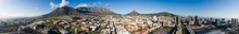 Panoramic Aerial View Over The City Of Cape Town In South Africa