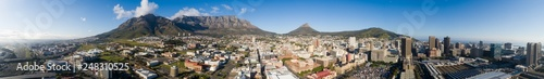 Fotografie, Obraz  Panoramic aerial view over the city of Cape Town in South Africa