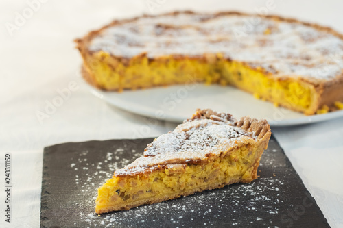 Pastiera napoletana sweet typical of southern Italy Fototapet