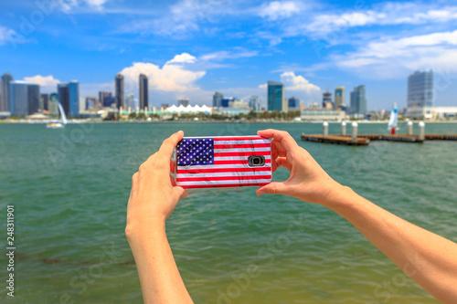 Fototapeta Tourism and travel in California, West Coast