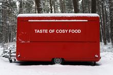 Street Food Truck 'Taste Of Cosy Food' In Winter City Park