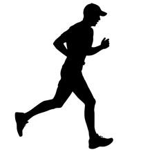 Black Silhouettes Runners Spri...