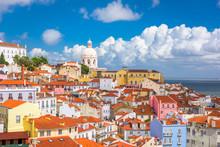 Lisbon, Portugal Old City Skyline