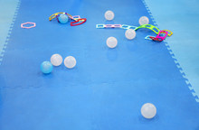 Colorful Foam Ground Or Rubber Floor And Soft Board With Ball Or Bubble With Jigsaw Toy For Baby Children Protect And Play On Playground Or Kid Playroom At Nursery Preschool Or Kindergarten
