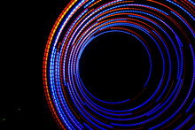 Lightpainting With Color Lights On A Fan