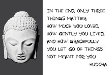 Buddha Quote. In The End, Only...