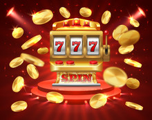 Slot Machine Banner. Casino Ga...