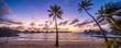 canvas print picture - Urlaub in einem Luxus Resort am Meer mit Sonnenuntergang