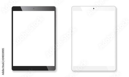 Fototapeta Realistic tablet mockup set obraz