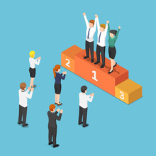 Isometric Business Team On The...