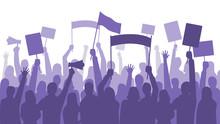 Activists Protest. Political R...