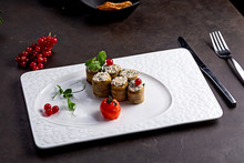 Eggplant Rolls With A Filling,...