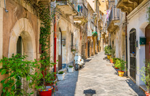 Picturesque Street In Ortigia,...