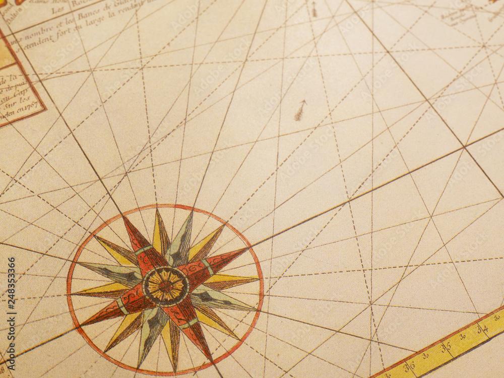 Fototapety, obrazy: Vintage map