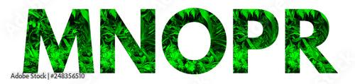 Fotografia, Obraz Wytnij literę i wstaw wraz z rosnącą rośliną