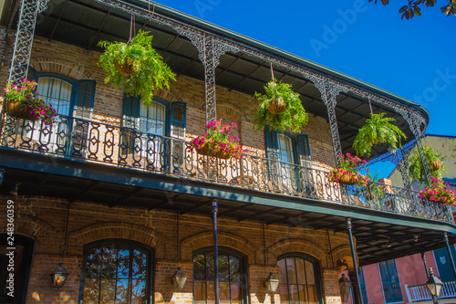 French Quarter architecture, New Orleans, Louisiana, United States Fototapete