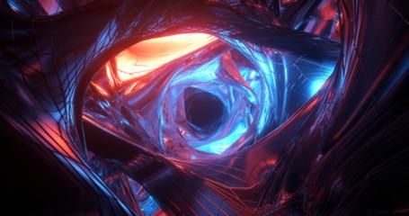 A scene of a colorful sci-f...