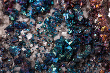 Macro Mineral Stone Chalcopyrite On A White Background