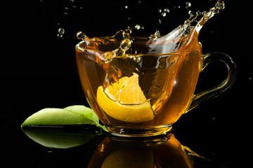 Panel Szklany Do herbaciarni green herbal tea