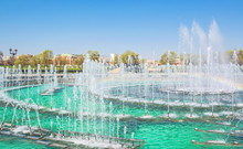 Fountain In Tsaritsyno Park In Moscow