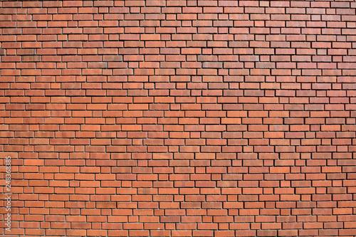 Garden Poster Brick wall Modern wall in brick-pattern style