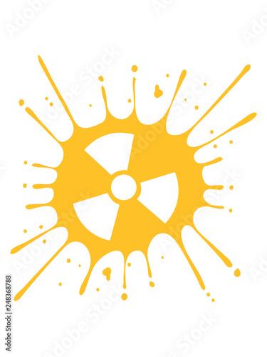 Fotografia  vorsicht atomar symbol radioaktiv warnung hinweis strahlung verseucht atomenergi