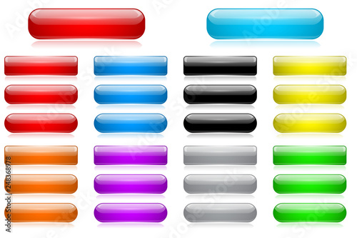 Vászonkép Colored 3d glass buttons