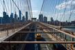 Traffic on the Brooklyn Bridge New York City