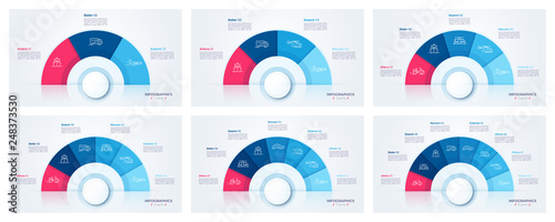 Fototapeta Vector circle chart design, modern templates for creating infographics
